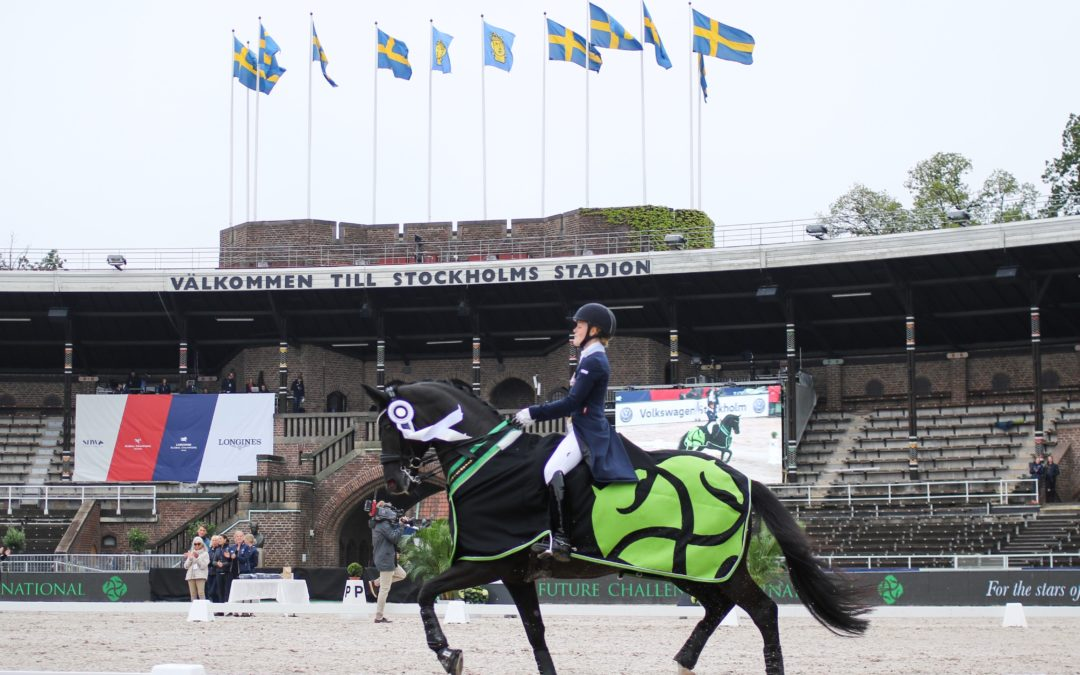 Even battle between the Swedish riders in Lövsta Future Challenge first Dressage class!