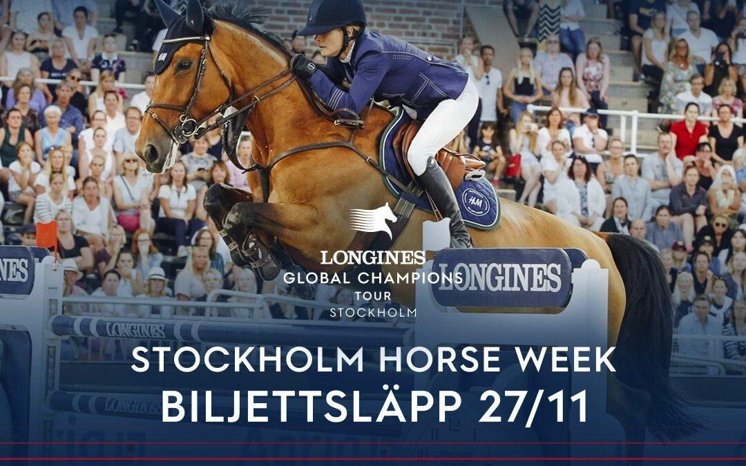 Nu släpps biljetterna till sommarens stora hästfest i Stockholm